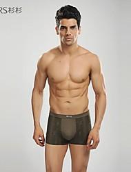 dos homens da marca abetos sensuais cueca boxers modais esportes casuais calções calças curtas