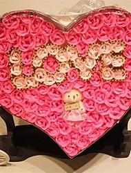 Valentine's Day Bear I Love You Soap Rose Random Lettering(More Colors)