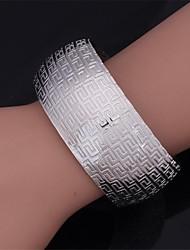 u7® vendimia 18k brazalete g patrón de las mujeres oro verdadero grueso llenar platino plateado pulsera para las mujeres o los hombres