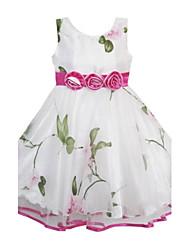 precioso tul estampado de flores de la muchacha del desfile adornado boda vestidos de ropa de los niños de la princesa de la fiesta