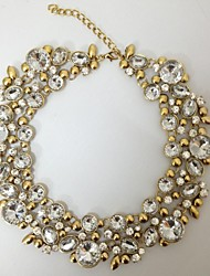 Fashion Vintage Cycle Round Necklaces Crystal Choker Statement Necklace