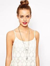 Women's European Style Fashion Double-pointed Star Diamond Necklace