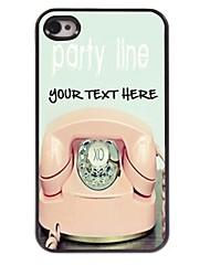 personalizzato phone case - telefono caso di disegno del metallo per iPhone 4 / 4S