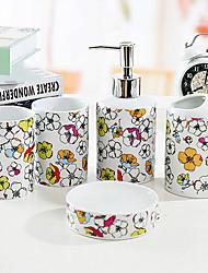 baño de juego de accesorios, artículos sanitarios de cerámica contemporánea Conjunto 5 piezas