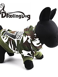 Cat / Dog Hoodie Green Dog Clothes Spring/Fall Camouflage