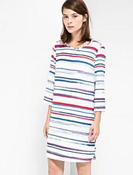 vestido estampado de patrón femenino lilimeiyi