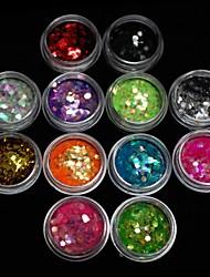 12pcs cores 3 milímetros acrílico paillette arte decoração de unhas