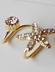 Korean Style Starfish Rhinestone Ear Cuff (1 pc)