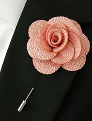 main lumière polyester rose fleurs de revers boutonnière pour hommes
