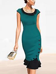 la mode robe de queue de poisson à manches courtes occasionnel de milliya femmes