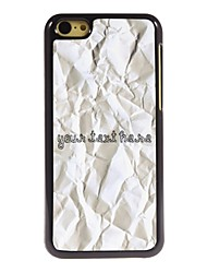 Personalized Phone Case - Paper Design Metal Case for iPhone 5C