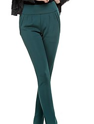 Women's Red/Green Straight Pants , Casual