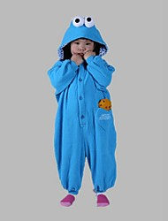 Kigurumi Pajamas Monster / Cartoon Leotard/Onesie Festival/Holiday Animal Sleepwear Halloween Blue Solid Polar Fleece Kigurumi For Kid