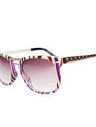 100% UV400 Women's Oversized PC Retro Sunglasses