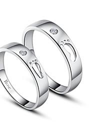 персональный подарок просто стерлингового серебра 925 пробы пары кольца