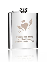 Personalized Gift 7oz Stainless Steel Hip Flask - Love Angel