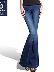 magicgarden®: de las mujeres 2014 nuevos estilo nacional bordado cintura medio slim jeans ajustados micro vaqueros piratas