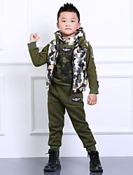 boysfall e grossas de inverno escuro camuflagem verde de malha com capuz gary camisola de lã parure
