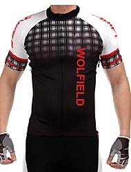WOLFBIKE® Cycling Jersey Men's Short Sleeve BikeBreathable / Quick Dry / Front Zipper / Lightweight Materials / Back Pocket /