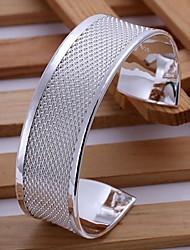 Bottom Of The Light Network Weaving Silver Plated Bracelet