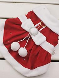 Chat / Chien Costume / Robe Rouge Vêtements pour Chien Hiver Nœud papillon Cosplay / Noël / Nouvel An