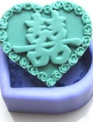 casamento chinês ferramentas bolo fondant de chocolate em forma de silicone bolo molde decoração, l8.3cm * * w7.5cm h3.1cm