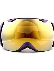 Basto marco púrpura gafas de nieve sensor amarilla espejo esquí lente