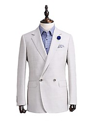 Grey   Plain  Tailored Fit  Suit  Jacket  In  100%Wool