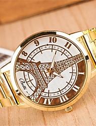 Mulheres Relógio Casual Quartzo Lega Banda Torre Eiffel Dourada