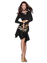 Belly Dance Dancewear Women's Silk&Velvet Sexy Outfits Including Top, Skirt, Belt(More Colors)