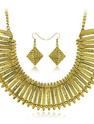Argent Vintage gitane rétro sculpture antique d'argent et de couleur or colliers d'étranglement boucle d'oreille ensemble de bijoux (plus de couleurs)