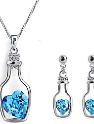 oreilles en cristal de collier de jeu de la SNA femmes