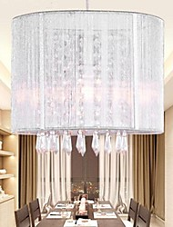 Silver Cloth Crystal Chandelier