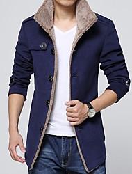 Men's Single Breasted Woolen Coat