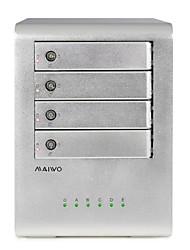 """maiwo k4fu3e liga de alumínio 4-bay usb 3,0 para 2,5 / 3,5 """"gabinete de disco rígido externo sata"""