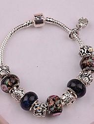 European Pandoranblack 5 star   flower Rhinestone  Pandent Silver Alloy Charm Bracelet 2015 new item new arrivale (1 pc)