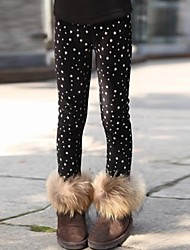 Girl's Black Leggings Cotton Winter / Fall / Spring