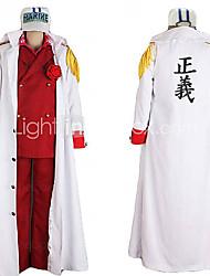 une pièce rusé ref amiral Akainu costume de cosplay uniforme marin