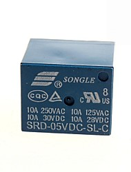 5v dc songle relé de potência srd-5vdc-sl-c (2pcs)