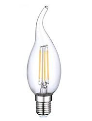 4W E14 Lâmpadas de Filamento de LED CA35 4 COB 400 lm Branco Quente Decorativa AC 220-240 / AC 110-130 V