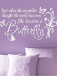 Wall Stickers Wall Decals, Modern Quote PVC Wall Stickers.