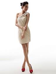 vestido de noche corto mini gasa / un hombro vestido de fiesta