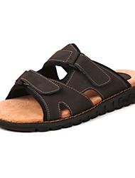 Chaussures Hommes - Décontracté - Noir / Marron / Jaune - Cuir - Sandales
