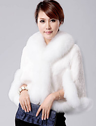 Delargent Women's Elegant Faux Fur Cape Coat