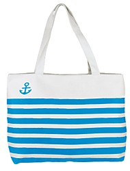 Women's Stripe Unique Pattern Canvas Totes