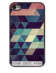 Personalized Phone Case - Colorful Triangle Design Metal Case for iPhone 4/4S