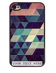 personnalisé cas de téléphone - coloré cas triangle design en métal pour iPhone 4 / 4S