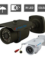 yanse® ir kleuren cctv camera waterdicht vision security outdoor camera's 24-leiding 1000tvl 867cf