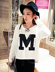 Women's Casual Fashion Letter Print Irregular Loose Hoodies