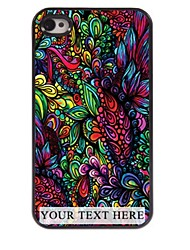 Personalized Phone Case - Colorful Leaves Design Metal Case for iPhone 4/4S